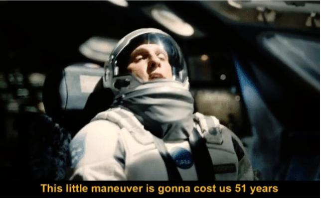 Malý manéver meme z filmu Intestellar